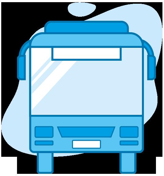 Grafik - Bus von Vorne