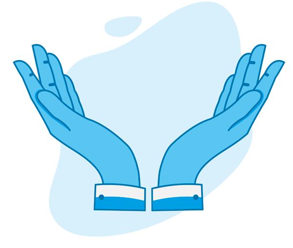 Geöffnete Hände - Grafik